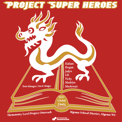2017 Project Super Heroes Shirt Front