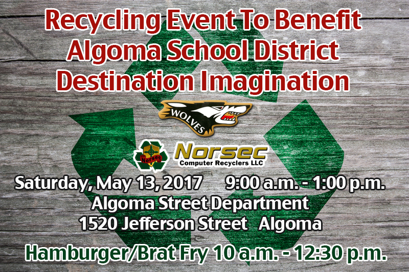 May 13, 2017 Electronics Recycling Evnt